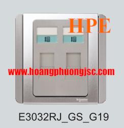 Ổ điện thoại đôi E3032RJ_GS-G19