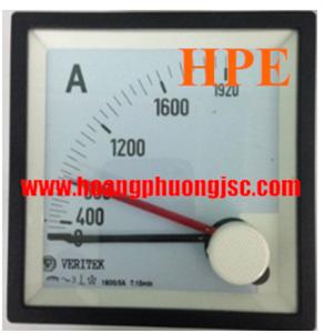 Đồng hồ đo dòng, áp kim VERITEK - VIPS 27VAC (72x72)