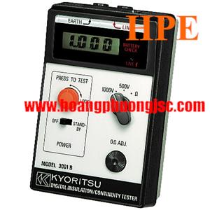 Đồng hồ đo điện trở cách điện, (Mêgôm mét), KYORITSU 3001B, K3001B (1000V/200MΩ)