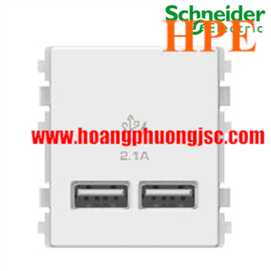 Ổ cắm sạc USB 2.1A đôi Schneider 3032USB_WE Concept