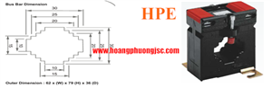 Biến dòng đo lường VIPS 3301-50/5-0,5-10