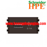 Ổ sạc USB 2.1A đơn Size S Zencelo màu đồng 8431USB_BZ Schneider