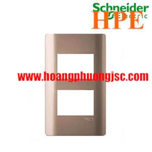 Mặt cho 2 thiết bị Size S Zencelo màu đồng A8402S_SZ_G19 Schneider