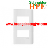 Mặt cho 2 thiết bị Size S Zencelo màu trắng A8402S_WE_G19 Schneider