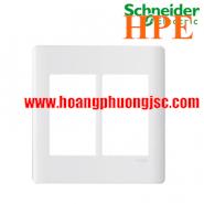 Mặt cho 6 thiết bị Size S Zencelo màu trắng A84T02L_WE_G19 Schneider