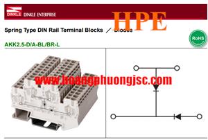 Cầu đấu kèm 2 diodes AKK2.5-2D/A-BL/BR-L
