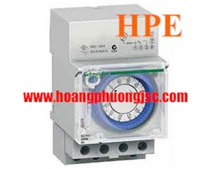 Relay thời gian cơ 24h ,1 Kênh,  lưu trữ 200h, chuyển trạng thái 48h, 16A/230V - CCT15365