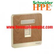 Bộ ổ cắm điện thoại đơn E8331RJS4_WD Schneider
