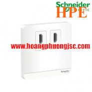 Bộ ổ cắm HDMI đôi E8332HDHD_WE_G19 Schneider