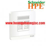 Bộ ổ cắm mạng cat5e đôi E8332RJS5_WE_G19 Schneider