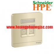 Bộ ổ cắm mạng cat5e đôi E8332RJS5_WG_G19 Schneider