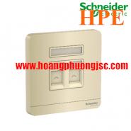 Bộ ổ cắm mạng cat6 đôi E8332RJS6_WG_G19 Schneider