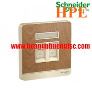 Bộ ổ cắm điện thoại và ổ cắm mạng cat5e E8332TDRJS5_WD Schneider