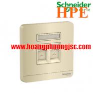 Bộ ổ cắm điện thoại và bộ ổ cắm mạng cat5e E8332TDRJS5_WG_G19 Schneider