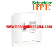 Bộ ổ cắm TV và bộ ổ cắm mạng cat6 E8332TVRJS6_WE_G19 Schneider