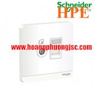 Bộ ổ cắm TV và bộ ổ cắm mạng cat5e E8332TVRJS5_WE_G19 Schneider