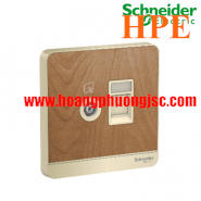 Bộ ổ cắm TV và ổ cắm mạng cat5e  E8332TVRJS5_WD Schneider