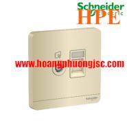Bộ ổ cắm TV và bộ ổ cắm mạng cat6 E8332TVRJS6_WG_G19 Schneider