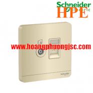 Bộ ổ cắm TV và bộ ổ cắm mạng cat5e E8332TVRJS5_WG_G19 Schneider