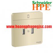 Bộ ổ sạc USB đôi 2.1A E8332USB_WG_G19 Schneider