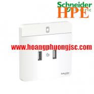 Bộ ổ sạc USB đôi 2.1A E8332USB_WE_G19 Schneider