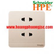 Bộ ổ cắm đôi 2 chấu 10A E83426U2_WG_G19 Schneider