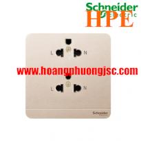 Bộ ổ cắm đôi 3 chấu 16A E83426UES2_WG_G19 Schneider