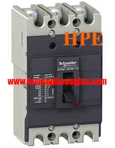 EZC100B3060 -  Aptomat MCCB Schneider 3P 60A 7.5kA 415V Easypact EZC100B