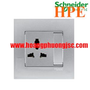 Bộ công tắc đơn đa năng 13A có công tắc Schneider KB113LS_AS Vivace