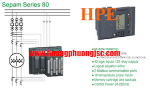 Relay Sepam SP-59704-S82-8-0