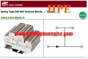 Cầu đấu kèm 2 diodes AKK2.5-2D/A-BR/BL-R