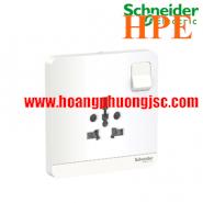 Bộ ổ cắm đơn đa năng 16A, có công tắc E8315TS_WE_G19 Schneider