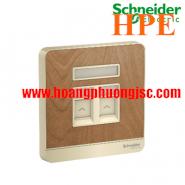 Bộ ổ cắm điện thoại đôi E8332RJS4_WD Schneider