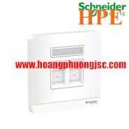 Bộ ổ cắm điện thoại và bộ ổ cắm mạng cat5e E8332TDRJS5_WE_G19 Schneider