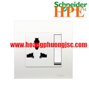 Bộ ổ cắm đơn đa năng 13A có công tắc Schneider KB113LS_WE Vivace